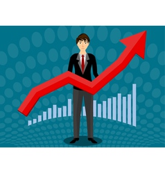 Growth up business vector