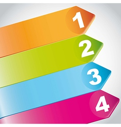 Four steps infographic vector