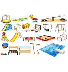 Playground equipments vector