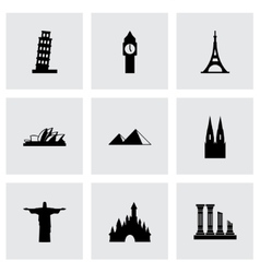 Landmarks icon set vector