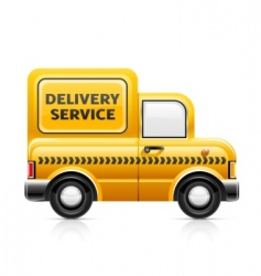 delivery service car vector image