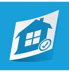 Select house sticker vector