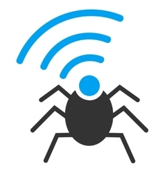 Radio spy bug icon from business bicolor set vector