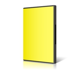 Yellow case for dvd or cd disk vector