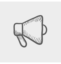 Megaphone sketch icon vector
