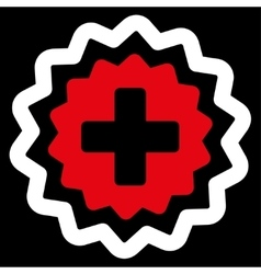 Medical Cross Stamp Icon vector image