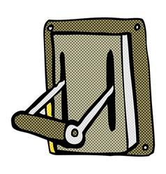 Comic cartoon industrial machine lever vector