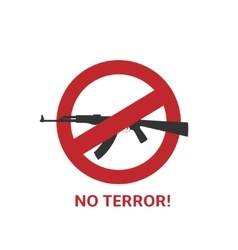 No terror sign vector