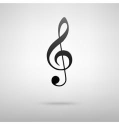 Violine clef icon vector image