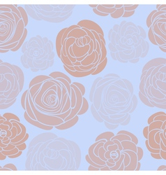 pattern with delicate roses vector image