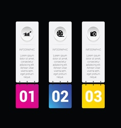 Infographic set media in colorful vector