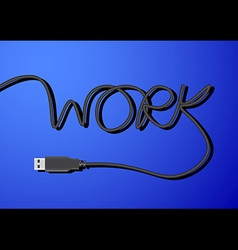 Usb line work vector