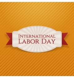 International labor day white paper card vector
