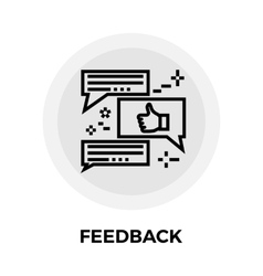 Feedback line icon vector