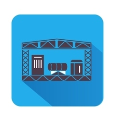 Warehouse storage equipment icon flat style vector