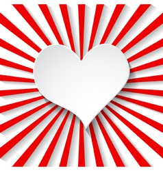 background with a paper heart vector image vector image