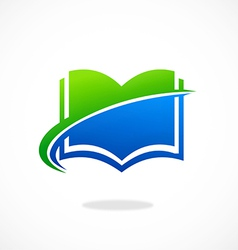 Book icon e book abstract logo vector