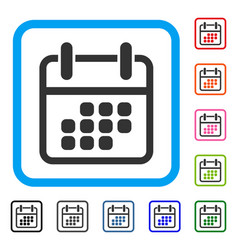 calendar weekend framed icon vector image vector image