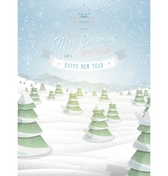 Christmas greeting template vector image vector image