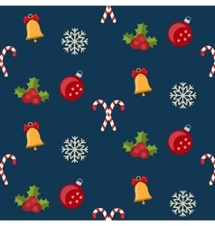Christmas seamless pattern with new year holidays vector