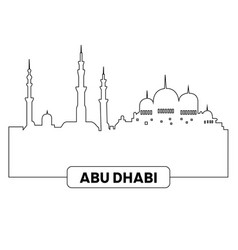 cityscape of abu dhabi vector image vector image