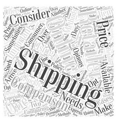 Comparing online retailers word cloud concept vector