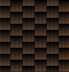 Dark striped geometric seamless pattern vector image vector image