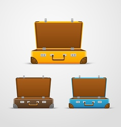 Different travel bags collection vector image vector image