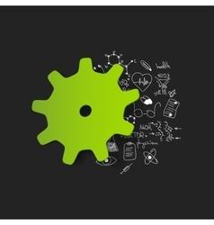 Drawing medical formulas cogwheel vector