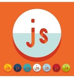 Flat design js vector image