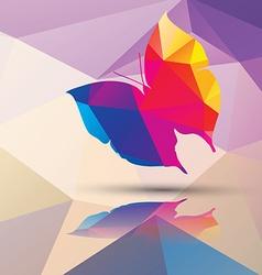 Geometric polygonal butterfly pattern design vector image