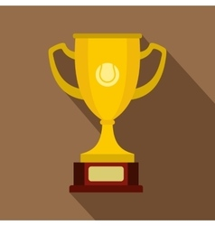 Gold cup icon flat style vector image vector image