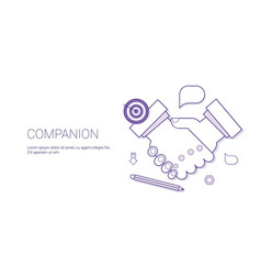 handshake icon business compaion concept vector image