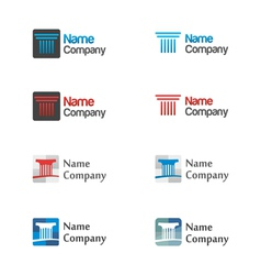Logo icon set vector image vector image