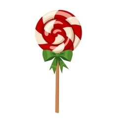 Lollipop sweet dessert vector