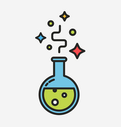 magical potion black outline flat style vector image vector image