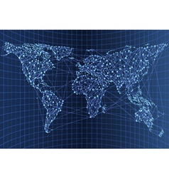 map network vector image vector image
