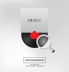 Music background Bite of musical plate Isolated vector image vector image