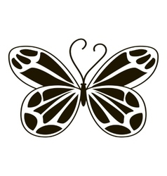 Night butterfly icon simple style vector