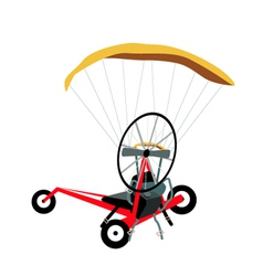 Paraglider or paramotor on a white background vector