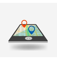 Phone gps icon vector