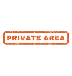 Private Area Rubber Stamp vector image vector image