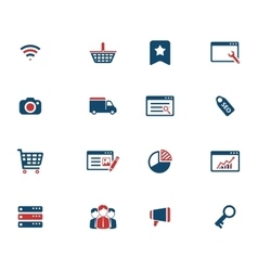 Seo and development simply icons vector