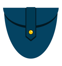 Small blue pocket icon isolated vector