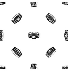 stadium pattern seamless black vector image vector image