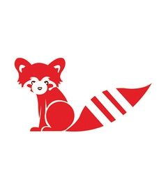 Stylised fox design vector