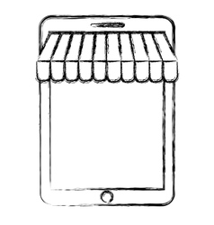 Tablet and ecommerce design vector