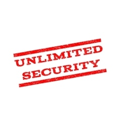 Unlimited Security Watermark Stamp vector image