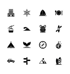 vacation - flat icons vector image vector image