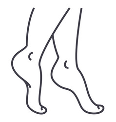 woman legs line icon sign on vector image vector image